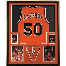 Ralph Sampson Signed Virginia Cavaliers 34x42 Custom Framed Jersey (Tristar)