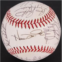 1992 Royals Team OAL Baseball Signed by (25) with Wally Joyner, Kevin McReynolds, Jeff Montgomery, G