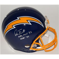 "Dan Fouts Signed Chargers Full-Size Authentic Pro-Line Helmet Inscribed ""NFL MVP '82""  ""HOF '93""  Li"