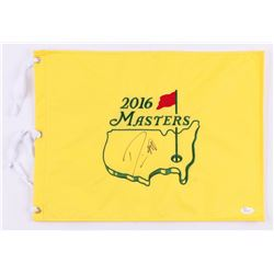 Danny Willett Signed 2016 Masters Tournament Golf Pin Flag (JSA COA)
