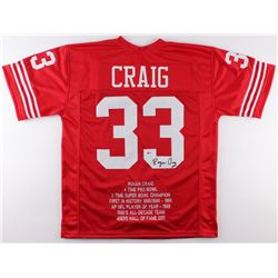 Roger Craig Signed 49ers Career Highlight Stat Jersey (Beckett COA)
