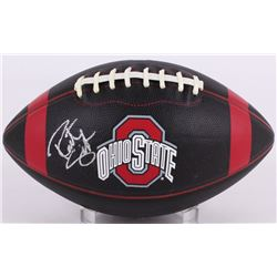 Robert Smith Signed Ohio State Buckeyes Black Leather Football (PSA COA)