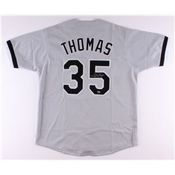Frank Thomas Signed White Sox Jersey (Leaf COA)