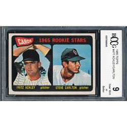 1965 Topps #477 Rookie Stars Fritz Ackley / Steve Carlton RC (BCCG 9)