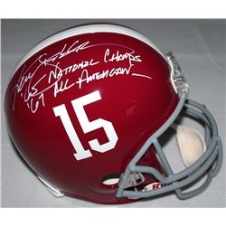 "Ken Stabler Signed Alabama Full-Size Helmet Inscribed ""'65 National Champs""  ""'67 All American"" (Rad"