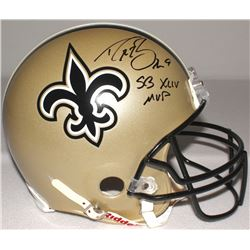 "Drew Brees Signed Saints Full-Size Authentic Proline Helmet Inscribed ""SB XLIV MVP"" (Brees Hologram)"