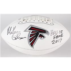"Morten Andersen Signed Falcons Logo Football Inscribed ""Hall of Fame 2017"" (Andersen Hologram)"