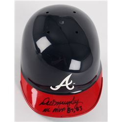 Dale Murphy Signed Braves Mini Batting Helmet Inscribed  NL MVP 82, 83  (Radtke COA)