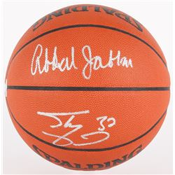 Kareem Abdul-Jabbar  Shaquille O'Neal Signed Official NBA Game Ball (JSA COA)