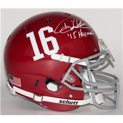 "Derrick Henry Signed Alabama Crimson Tide Full-Size Authentic Pro-Line Helmet Inscribed ""'15 Heisman"