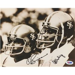 O. J. Simpson  Al Cowlings Signed 49ers 8x10 Photo (PSA COA)
