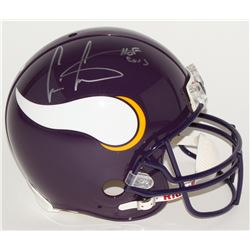 "Cris Carter Signed Vikings Full-Size Authentic Pro-Line Helmet Inscribed ""HOF 2013"" (Steiner COA)"
