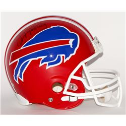 "Jim Kelly Signed Bills Full-Size Authentic Pro-Line Helmet Inscribed ""35,467"" (Steiner COA)"