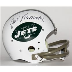 Joe Namath Signed Jets TK Suspension Throwback Helmet Team (Steiner COA)
