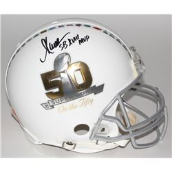 "Marcus Allen Signed Super Bowl 50 Full-Size Authentic Pro-Line Helmet Inscribed ""SB XVIII MVP"" (Stei"