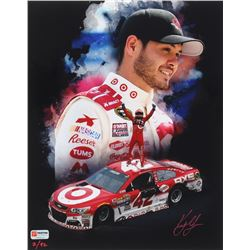 "Kyle Larson Signed NASCAR ""2016 Michigan Win"" Limited Edition 11x14 Photo #/42 (PA COA)"