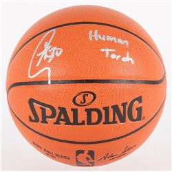 "Stephen Curry Signed NBA Game Ball Series Basketball Inscribed ""Human Torch"" (Fanatics Hologram)"