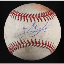 David Ortiz Signed Game-Used OML Baseball Inscribed (MLB  Fanatics)