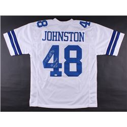 "Daryl Johnston Signed Cowboys Jersey Inscribed ""Moose""  ""SB XXVII, XXVIII, XXX"" (JSA COA)"