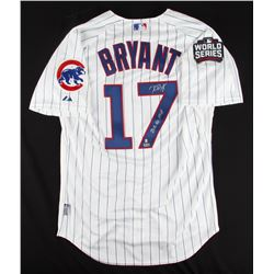 "Kris Bryant Signed Cubs Majestic Authentic Jersey Inscribed ""2016 NL MVP"" (MLB  Fanatics Hologram)"