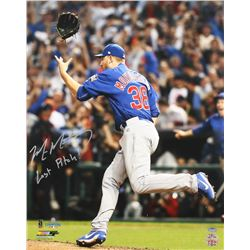 "Mike Montgomery Signed Cubs 16x20 Photo Inscribed ""Last Pitch!"" (Schwartz COA)"