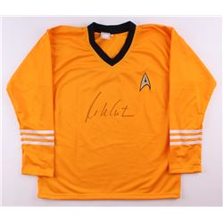 "William Shatner Signed Star Trek ""Captain James T. Kirk"" Prop Replica Uniform Shirt (JSA COA)"
