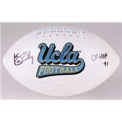"Kenny Easley Signed UCLA Bruins Logo Football Inscribed ""CF HOF '91"" (JSA COA)"