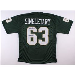 "Mike Singletary Signed Baylor Bears Jersey Inscribed ""2x All-American"" (JSA COA)"