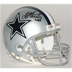 "Troy Aikman Signed Cowboys Mini-Helmet Inscribed ""SB XXVII MVP"" (Aikman Hologram)"