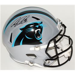 Greg Olsen Signed Panthers Full-Size Speed Helmet (JSA COA)