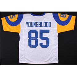 "Jack Youngblood Signed Rams Throwback Jersey Inscribed ""HOF 01"" (JSA COA)"