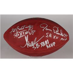 Marcus Allen, Fred Biletnikoff,  Jim Plunkett Signed Official NFL Game Ball with (3) MVP Inscription
