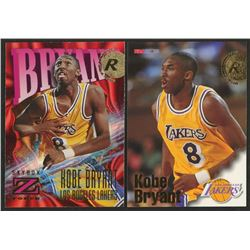 Lot of (2) Kobe Bryant Rookie Cards with 1996-97 Hoops #281 RC  1996-97 Z-Force #142 RC