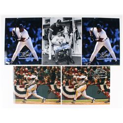 Lot of (5) Cecil Fielder Signed 8x10 Photos (Schwartz COA)