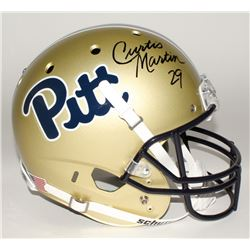 Curtis Martin Signed Pittsburgh Panthers Full-Size Helmet (Martin Hologram)