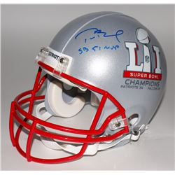 "Tom Brady Signed Patriots ""Super Bowl LI"" Full-Size Authentic Pro-Line Helmet Inscribed ""SB 51 MVP"""