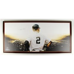 "Derek Jeter Signed Yankees 27.5"" x 58"" Custom Framed Giclee on Canvas (Steiner COA)"