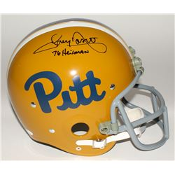 "Tony Dorsett Signed Pittsburgh Panthers Full-Size TK Suspension Helmet Inscribed ""76 Heisman"" (JSA C"