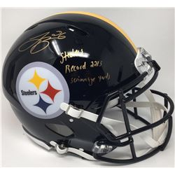 "Le'Veon Bell Signed LE Steelers Full-Size Authentic Pro-Line Speed Helmet Inscribed ""Steelers Record"