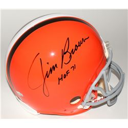 "Jim Brown Signed Browns Full-Size Authentic Helmet Inscribed ""HOF 71"" (Fanatics Hologram)"