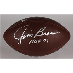 "Jim Brown Signed ""The Duke"" Official NFL Game Ball Inscribed ""HOF 71"" (Fanatics Hologram)"