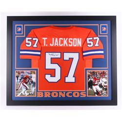 "Tom Jackson Signed Broncos 35"" x 43"" Custom Framed Jersey Inscribed ""Orange Crush"" (JSA COA) (Imperf"