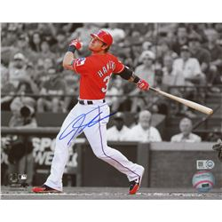 Josh Hamilton Signed Rangers 8x10 Photo (MLB Hologram)