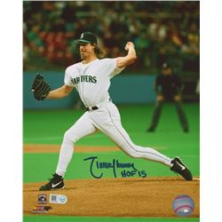 "Randy Johnson Signed Mariners 8x10 Photo Inscribed ""HOF 15""(MLB Hologram)"