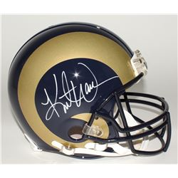 Kurt Warner Signed Rams Full-Size Helmet (JSA COA)