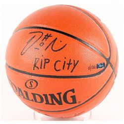 "Damian Lillard Signed NBA Basketball Inscribed ""Rip City"" (Panini COA)"