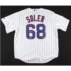 "Jorge Soler Signed Cubs ""2016 World Series"" Jersey Inscribed ""2016 WS Champs"" (Schwartz COA)"