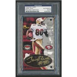Jerry Rice 24k GOLD Signed 1998 Authentic Images Gold Trading Card (PSA Encapsulated)