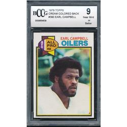 1979 Topps #390 Earl Campbell RC (BCCG 9)