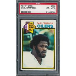 1979 Topps #390 Earl Campbell RC (PSA 8)
